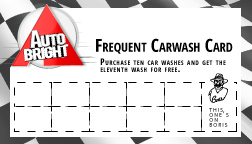Frequent Car Wash Card